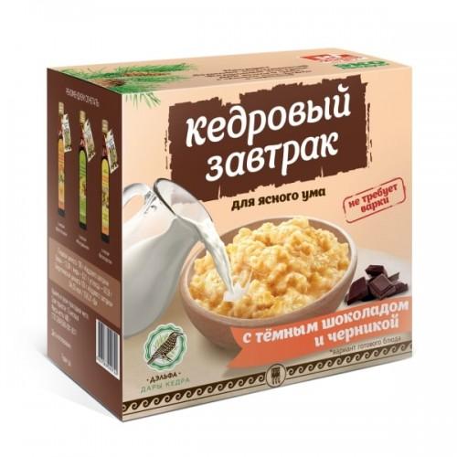 Завтрак кедровый для ясного ума с темным шоколадом и черникой  г. Красногорск