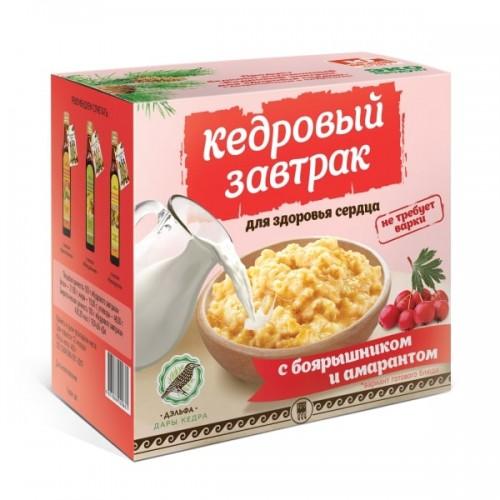 Завтрак кедровый для здоровья сердца с боярышником и амарантом  г. Красногорск
